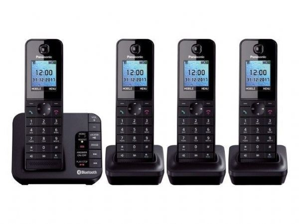 Panasonic KX-TGH264EB Link to Mobile Cordless Quad Dect Phone Nuisance Block